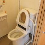 居室に併設されたトイレ